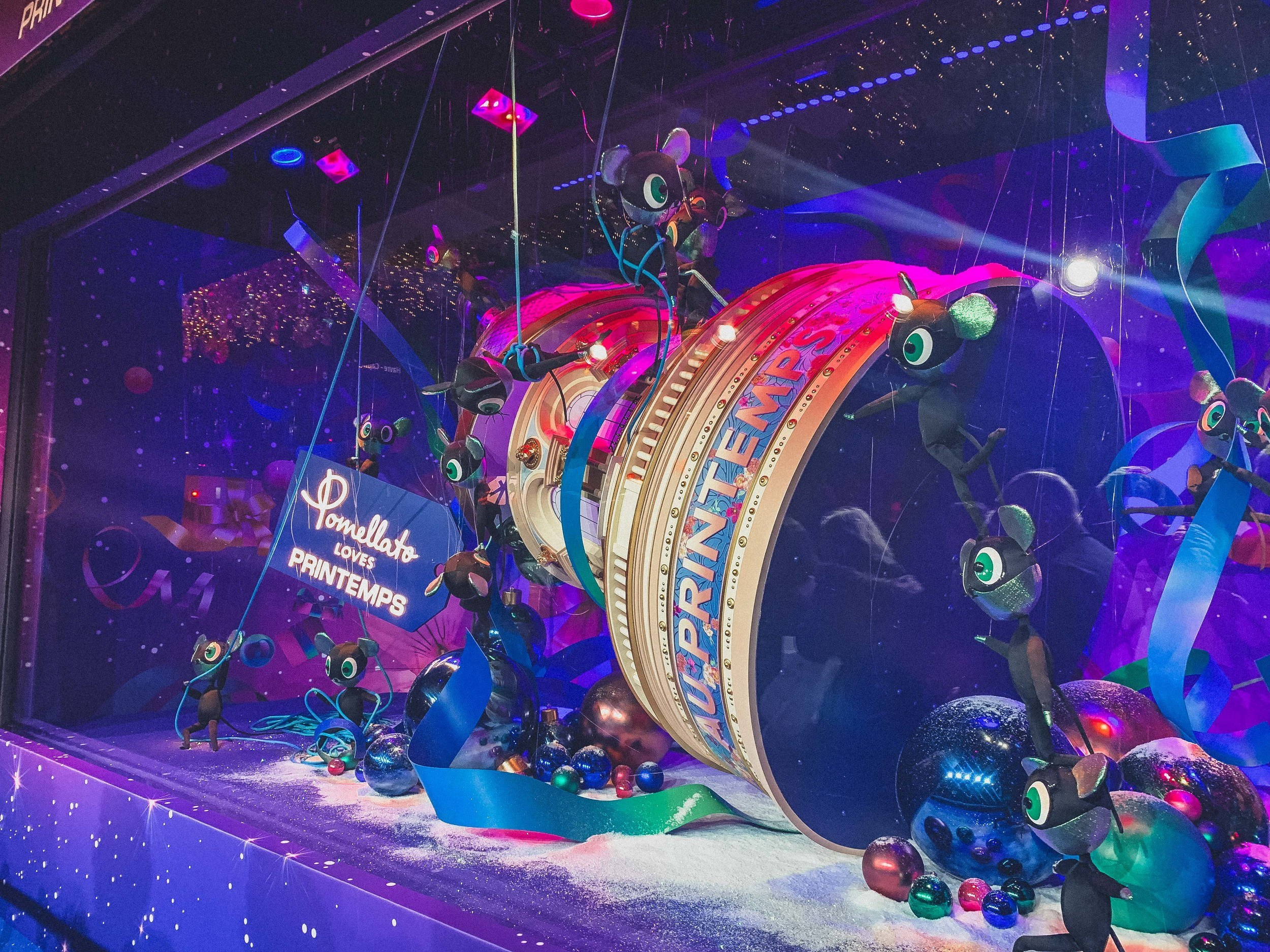 An Insider's Guide to Printemps Christmas Windows 2019 in the 9th arrondissement, Paris, France