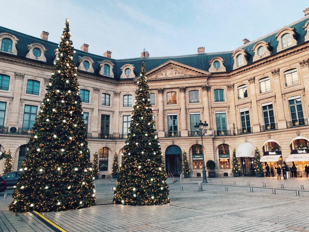 Ritz Christmas Chalet at Place Vendôme in the 1st arrondissement of Paris, France