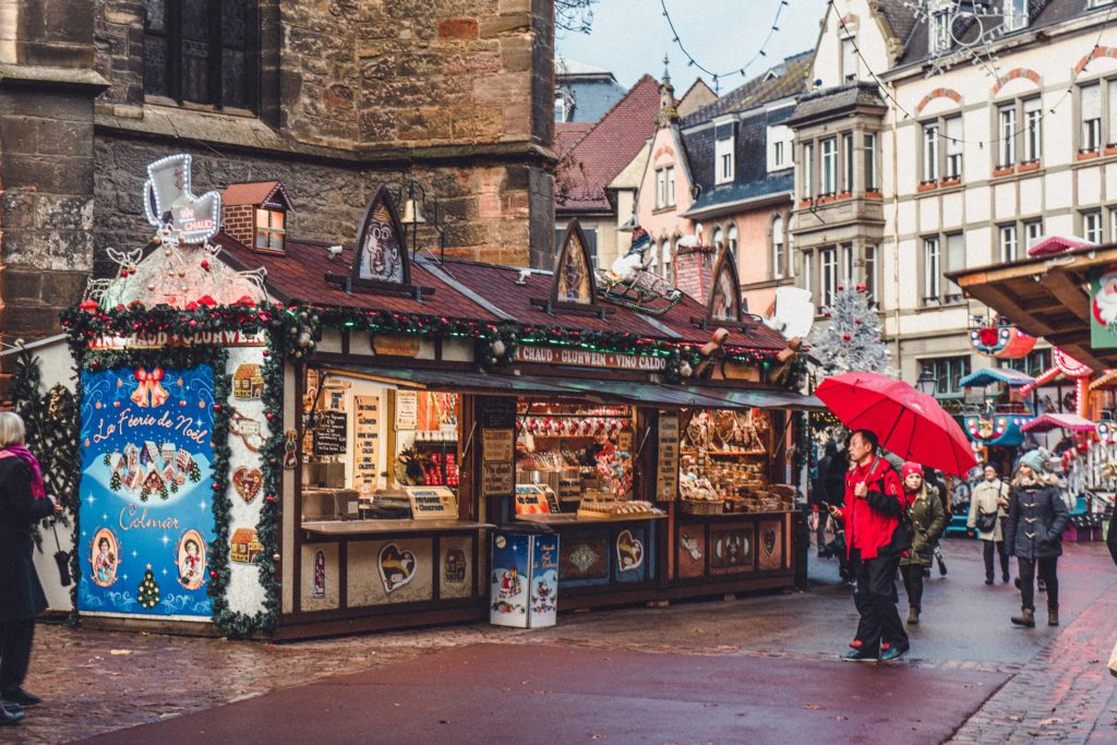 Place des Dominicains, Colmar, Alsace, France