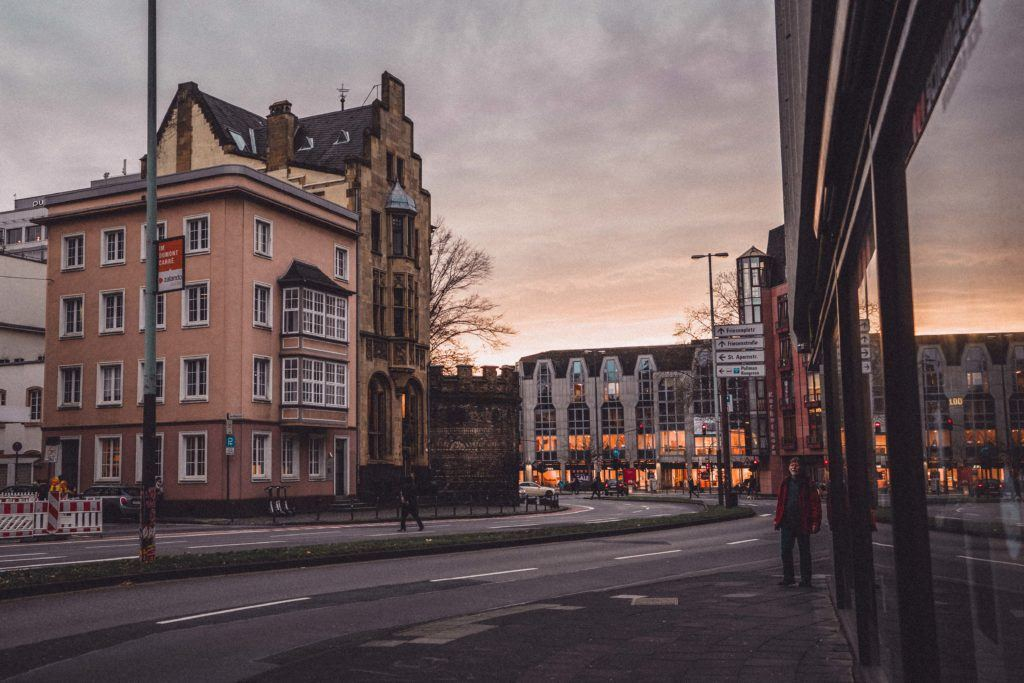 Cologne at sunset in Germany