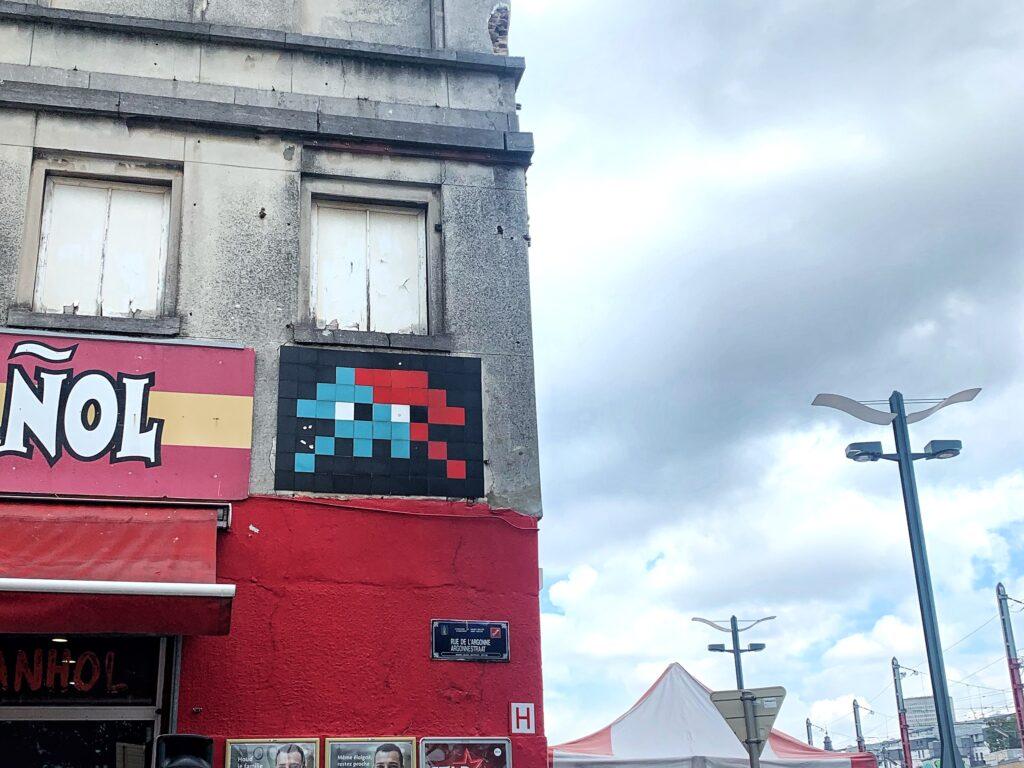 Invader Street Art Brussels
