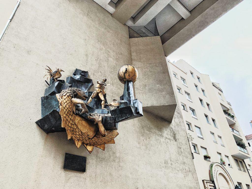 Le Défenseur du Temps (The Defender of Time)Clock in Le Marais, Paris, France