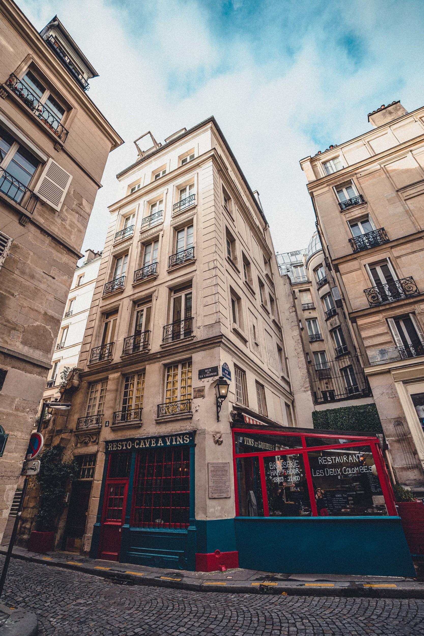 The Unexpected Medieval Lovers of Rue de la Colombe, 4th arrondissement Ile de la Cite Paris France