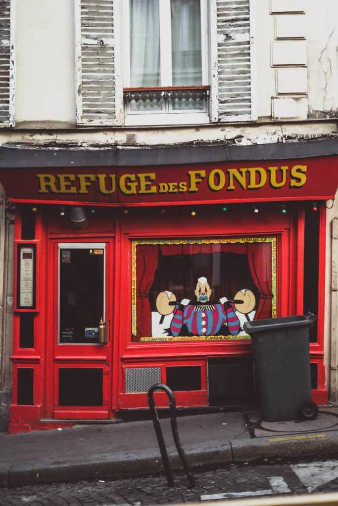 refuge des fondus, montmartre, paris; france