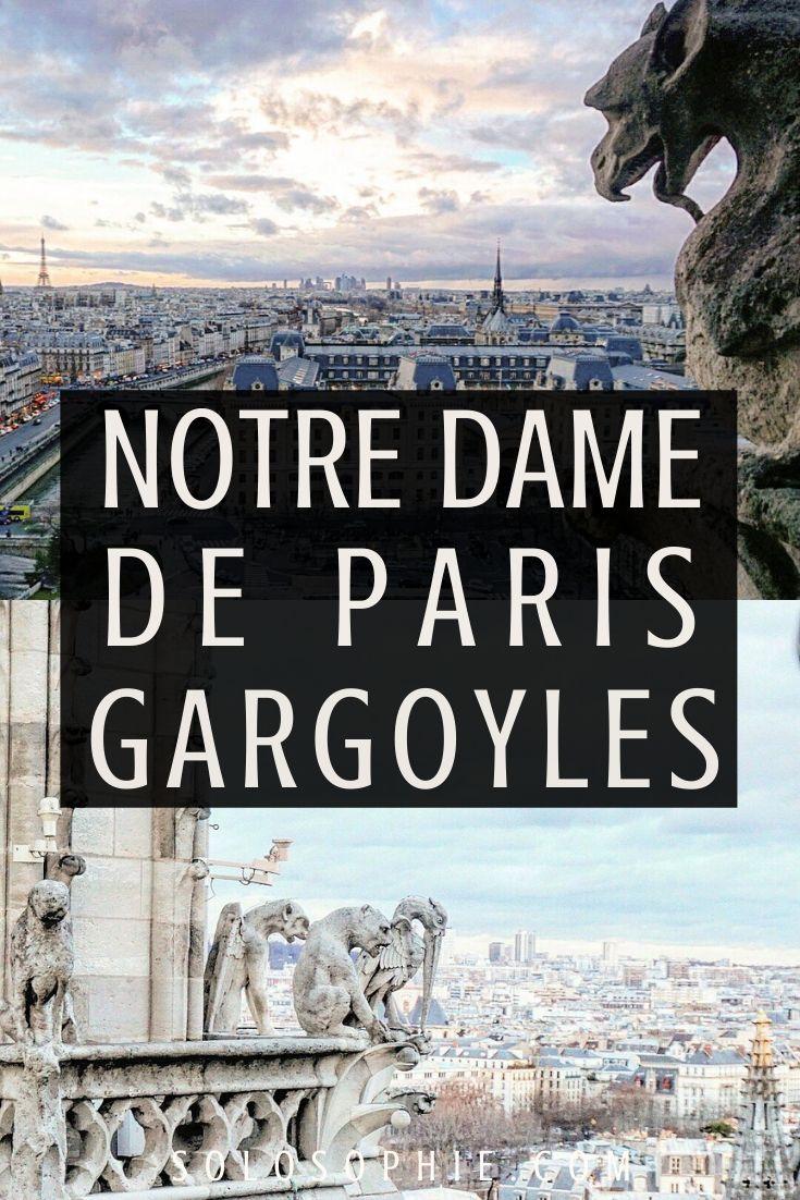 The Grotestque Chimerae & Gargoyles of Notre Dame de Paris Cathedral On ile de la cite paris france