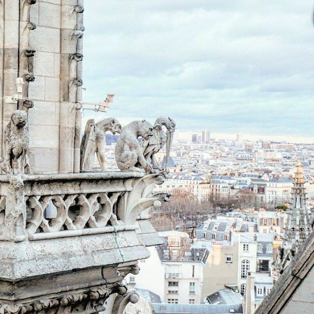 The Grotestque Chimerae & Gargoyles of Notre Dame de Paris Cathedral