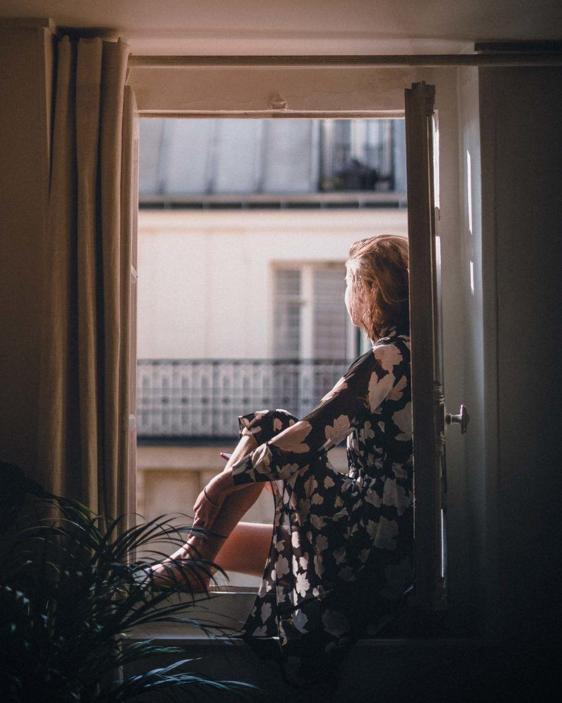 looking out of a parisian window