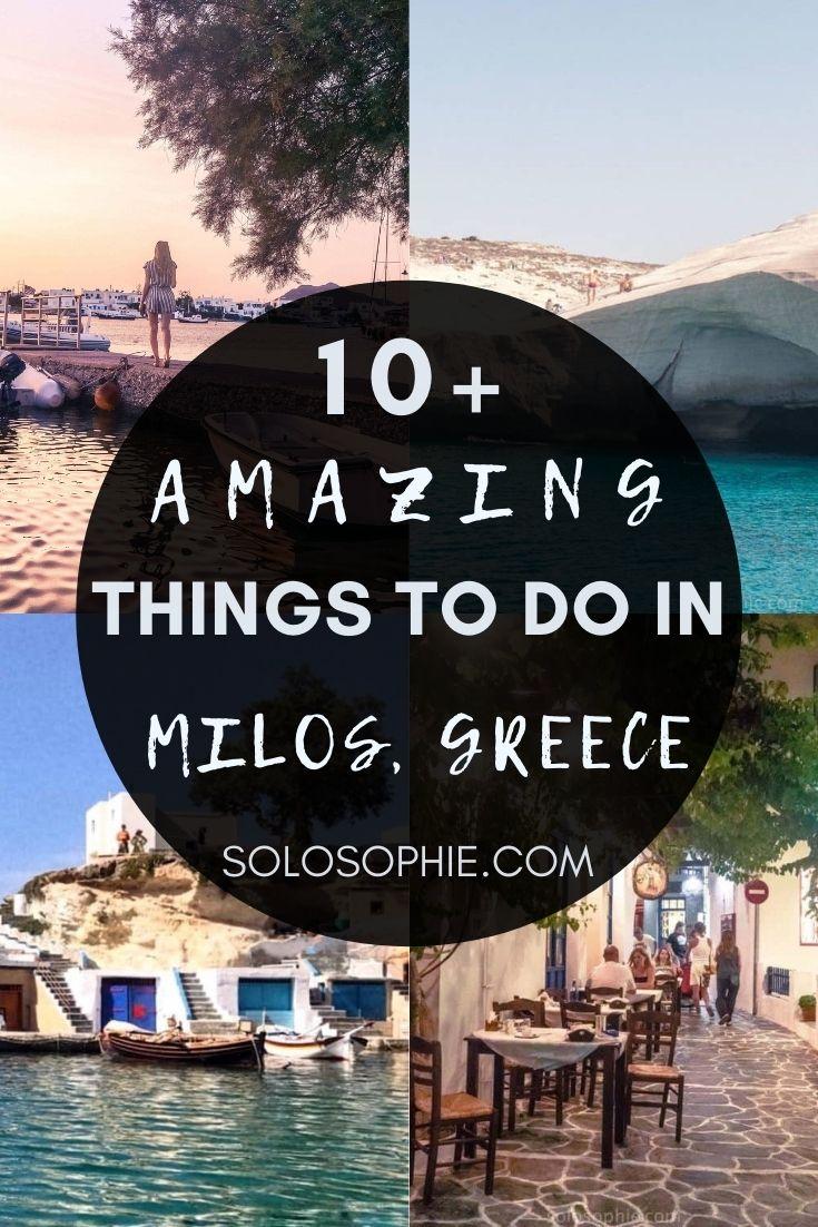 Best of Milos Greece Aegean Sea/ Best Things to do in Milos, Hidden Gem of the Cyclades