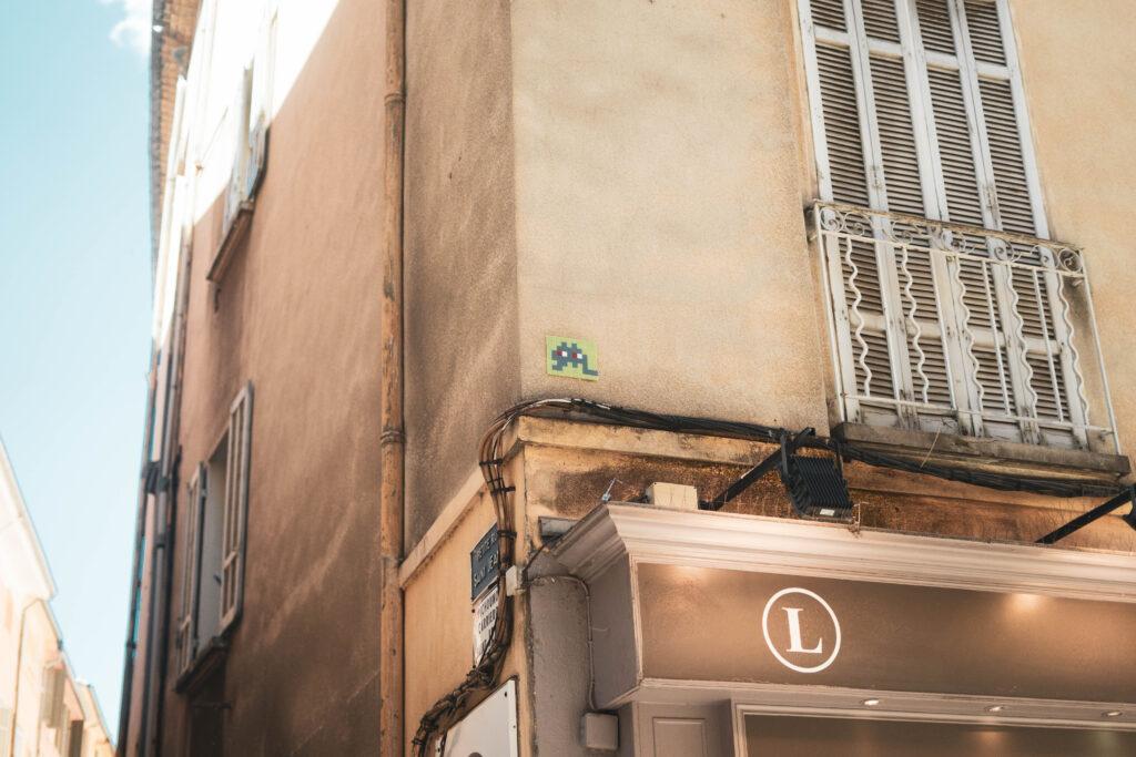 Invader street art Aix en Provence France