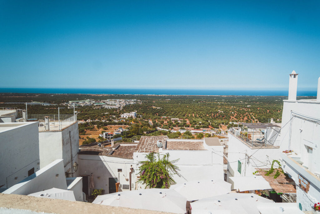 Stroll along the defensive walls and ramparts of ostuni