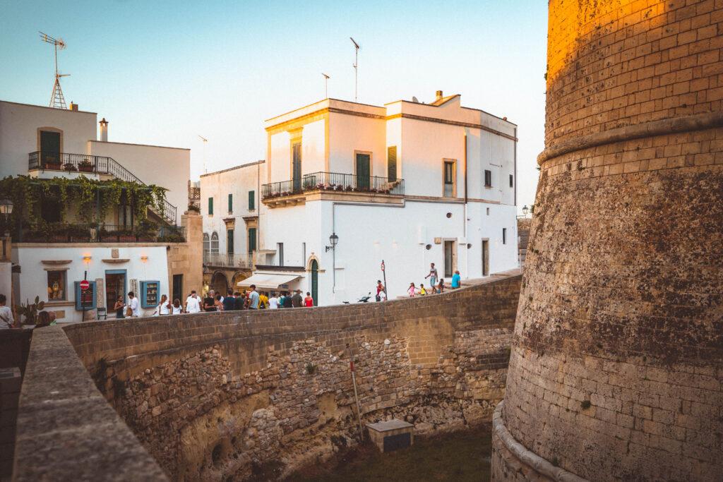 city walls otranto italy